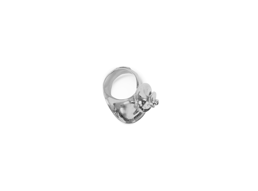 Shell ring silver  slide
