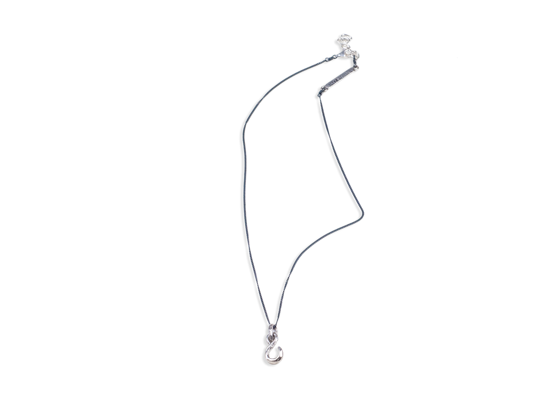 FISH HOOK NECKLACE silver slide