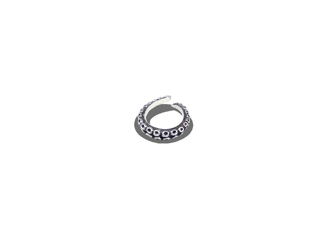 Octopus ring silver slide