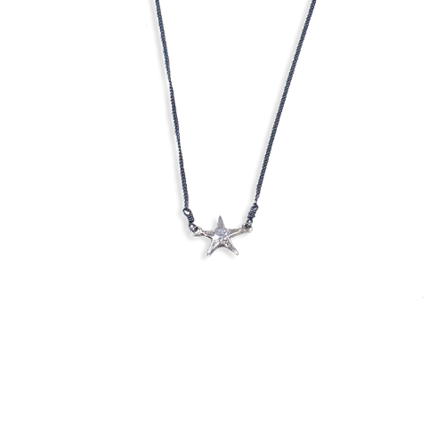 Small starfish necklace silver thumbnail