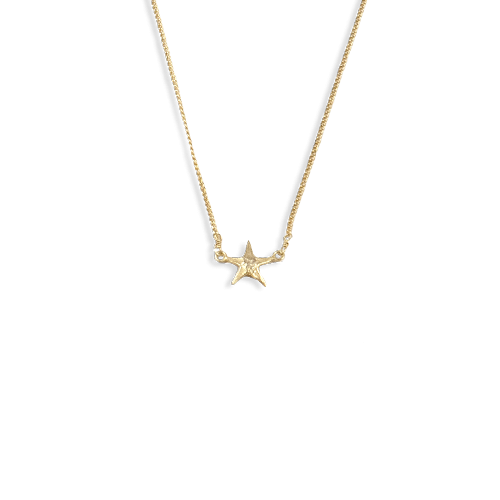 Small starfish necklace gold thumbnail