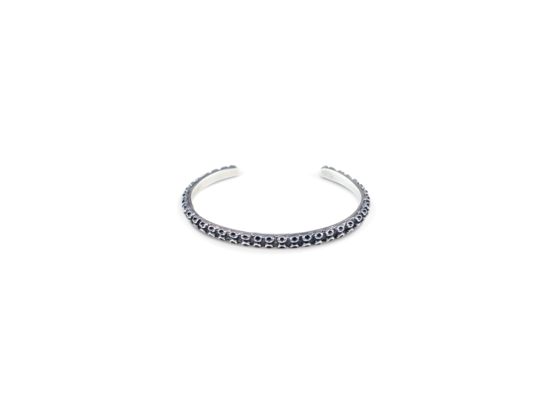 Octopus bracelet silver slide