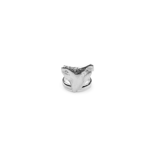 Shark tooth ring silver thumbnail