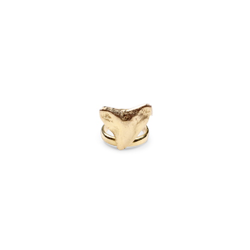 Shark tooth ring gold thumbnail