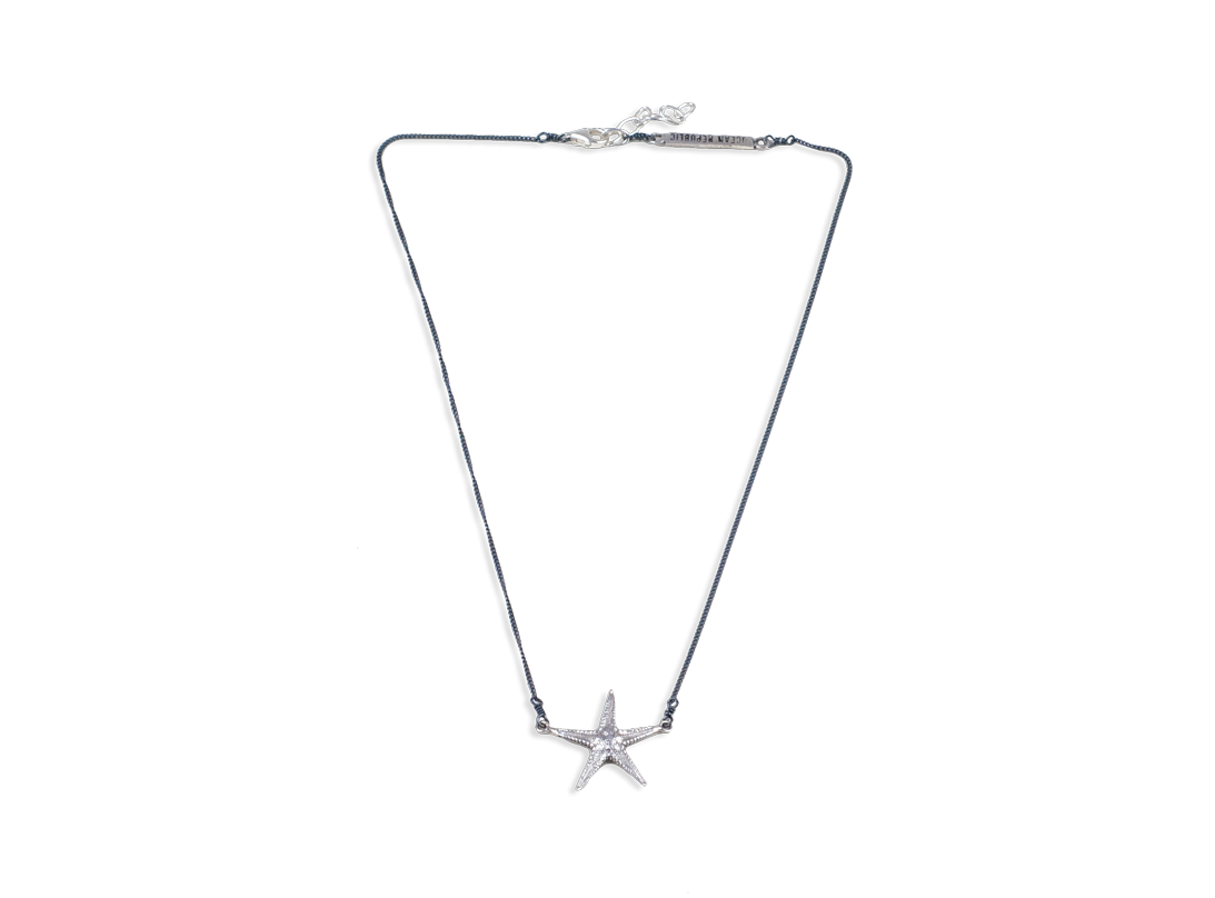 starfish necklace medium silver slide