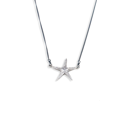starfish necklace medium silver thumbnail
