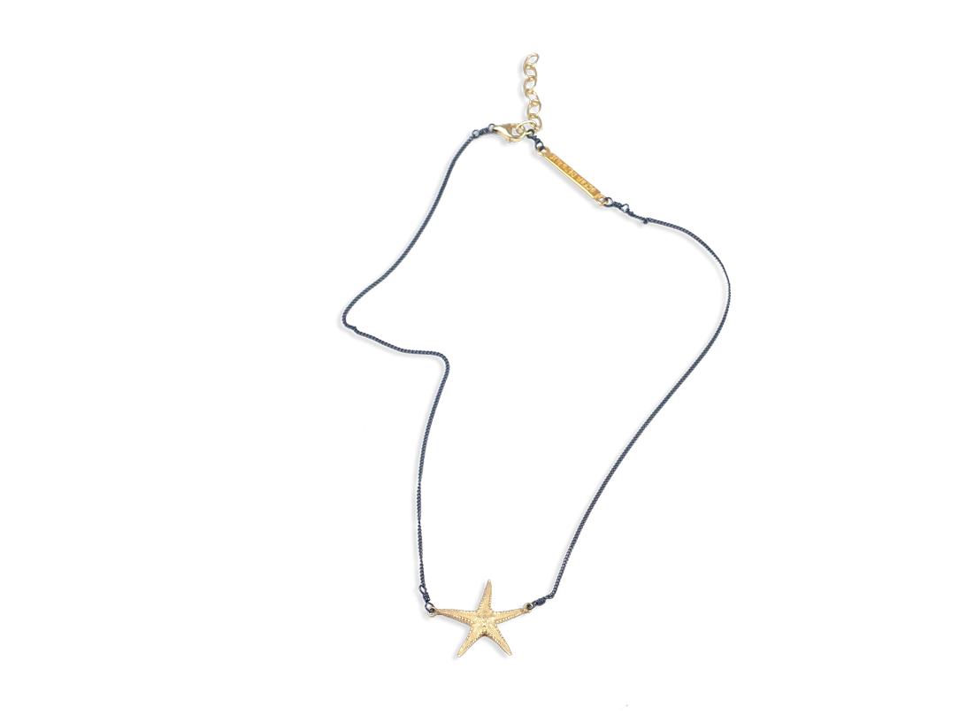 starfish necklace medium gold slide