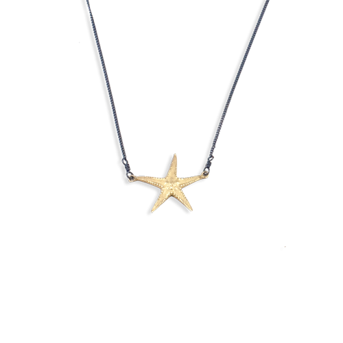 starfish necklace medium gold thumbnail