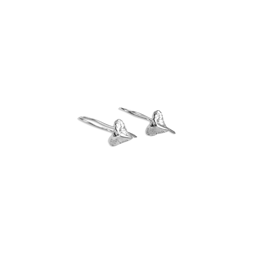 small shark tooth earring silver thumbnail