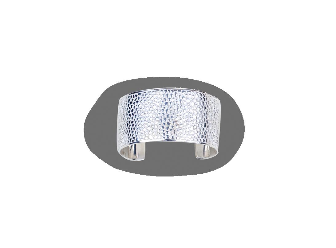 manta bracelet silver slide