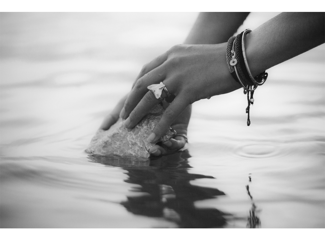 paddlefish Clasp bracelet gold slide