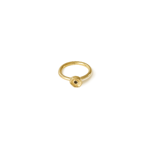 Octopus dot ring medium gold thumbnail