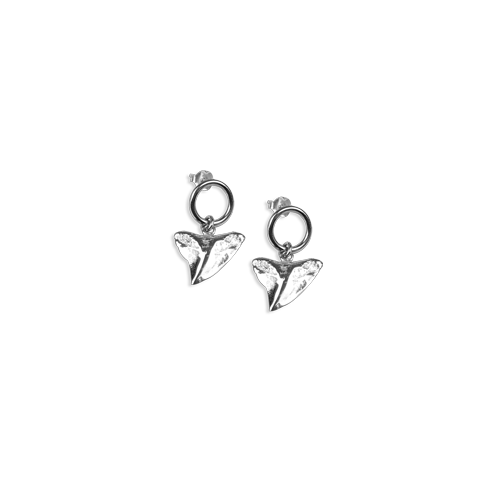 Shark tooth earrings silver thumbnail