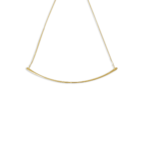 paddlefish necklace small gold thumbnail