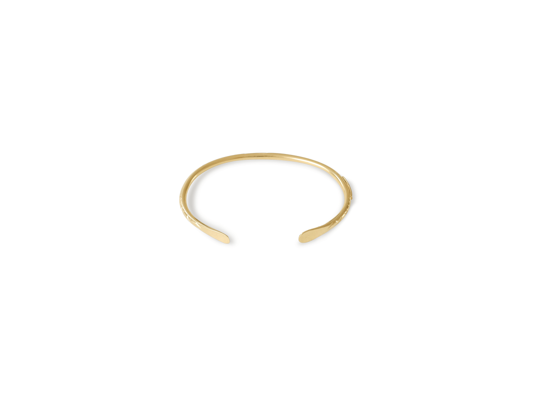paddlefish bracelet gold slide
