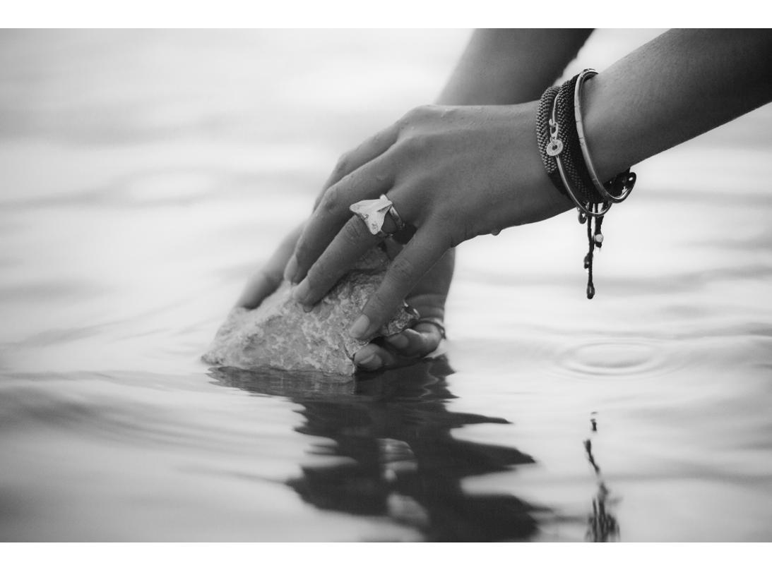paddlefish bracelet silver slide