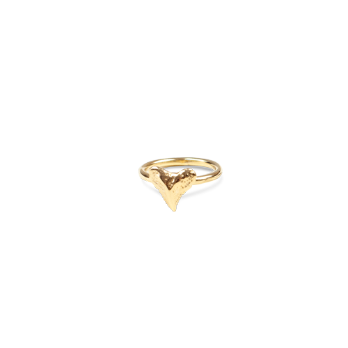 mini shark tooth ring gold thumbnail