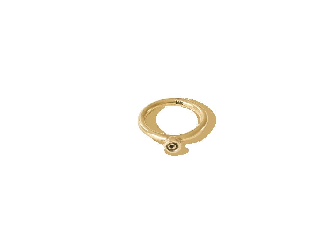 Octopus dot ring small gold slide