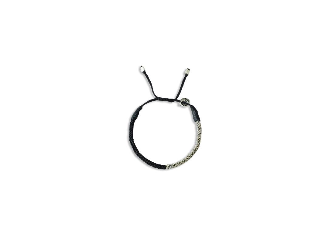 Seaweed Bracelet silver black slide