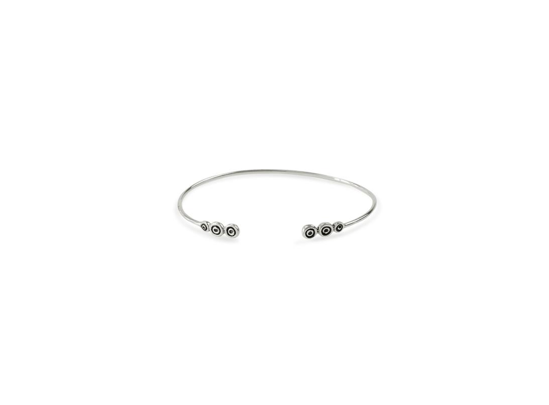 Octopus charm bracelet silver slide