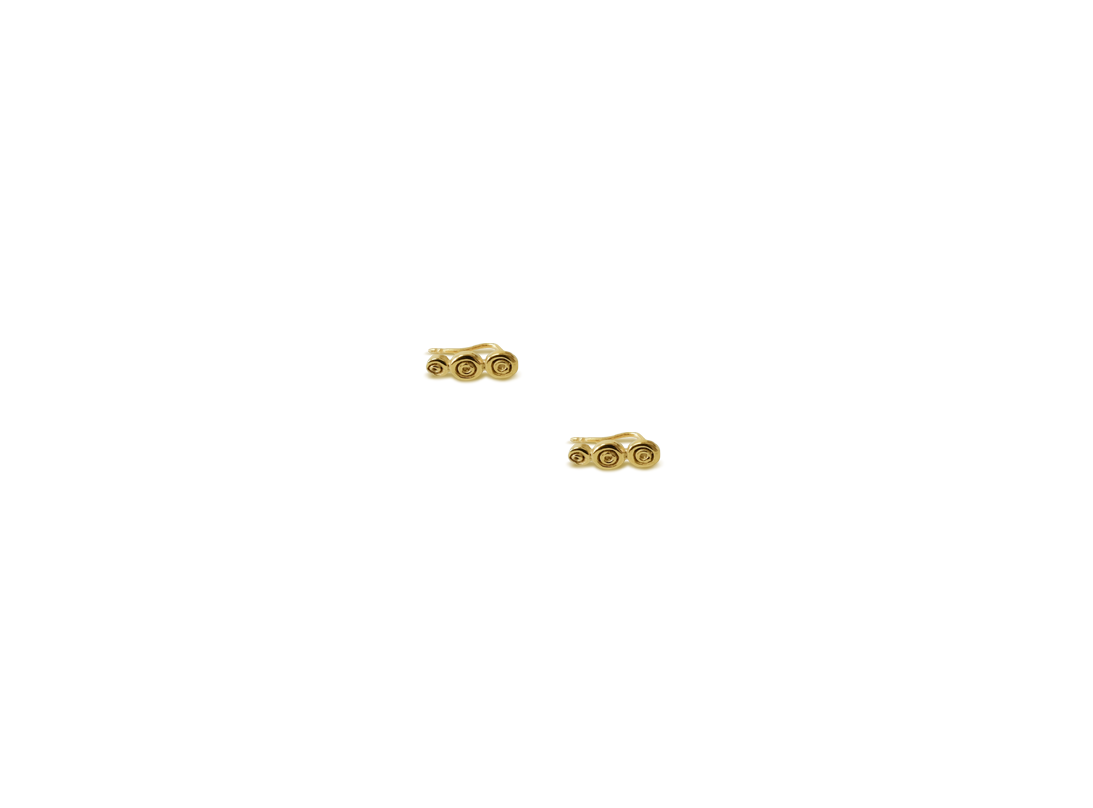 Octo earrings gold  slide