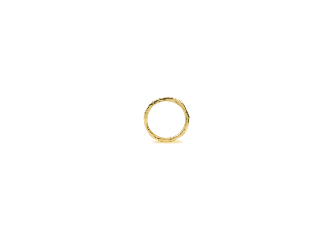 Lava ring small gold slide