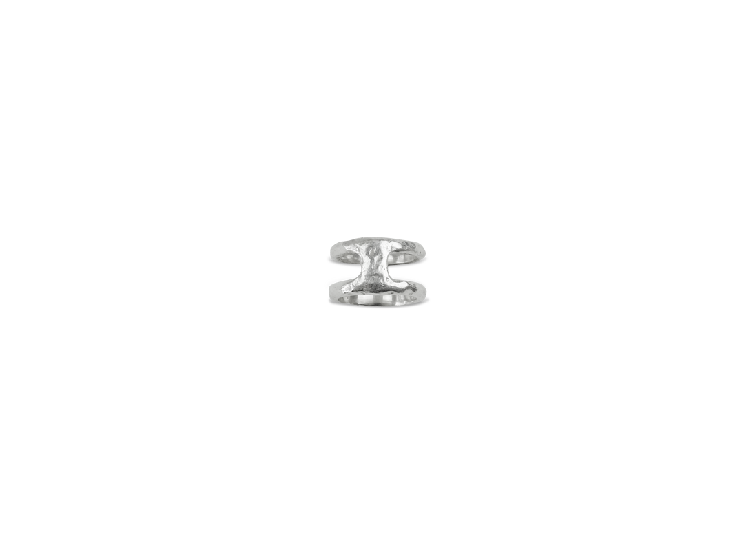 Lava ring double silver slide