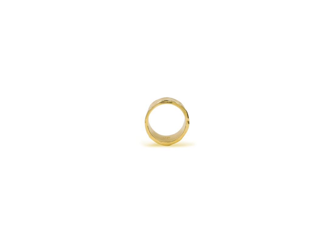 Lava ring large gold slide