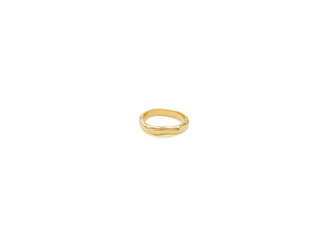 lava ring medium gold  slide