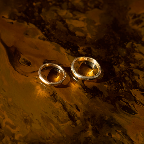 lava ring medium gold  thumbnail