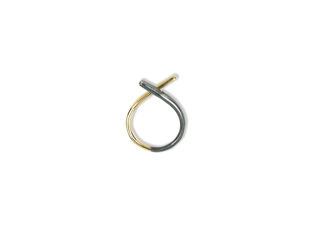 Blend Ring small Gold Black slide