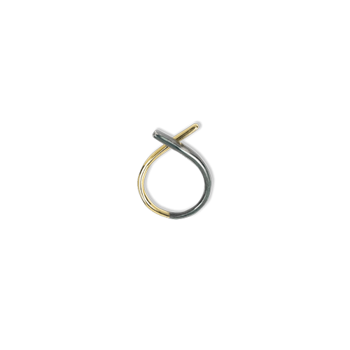 Blend Ring small Gold Black thumbnail