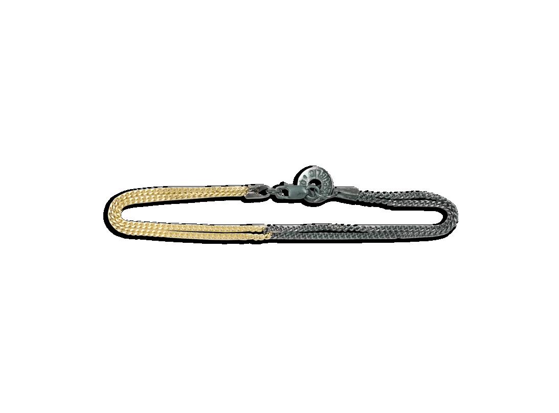 Duality chain bracelet black gold slide