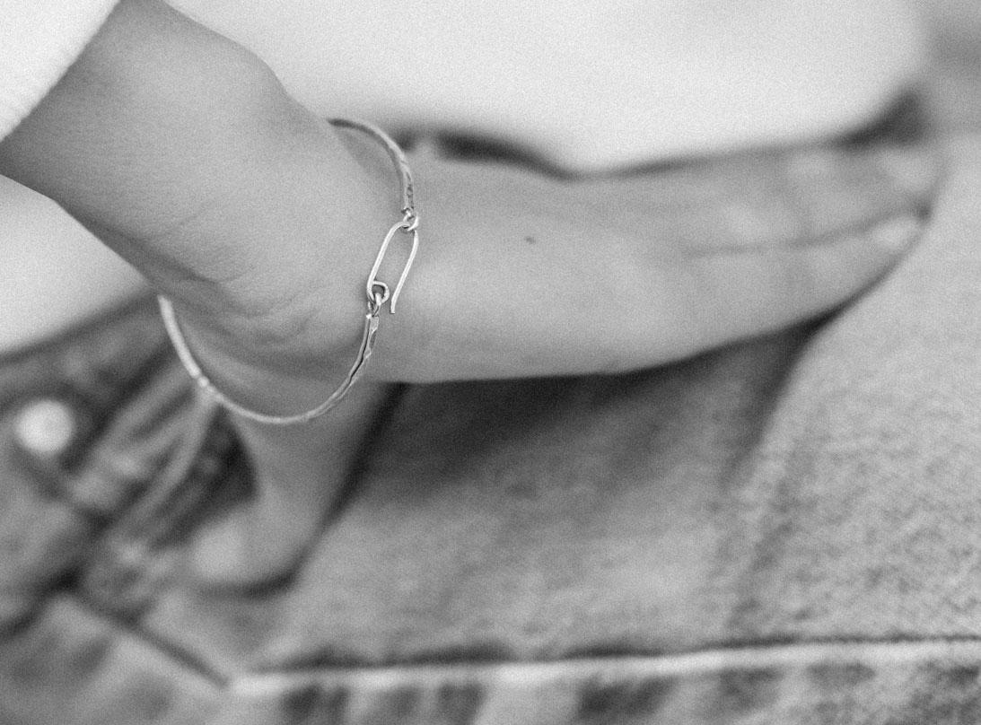 DUALITY BRACELET black silver slide