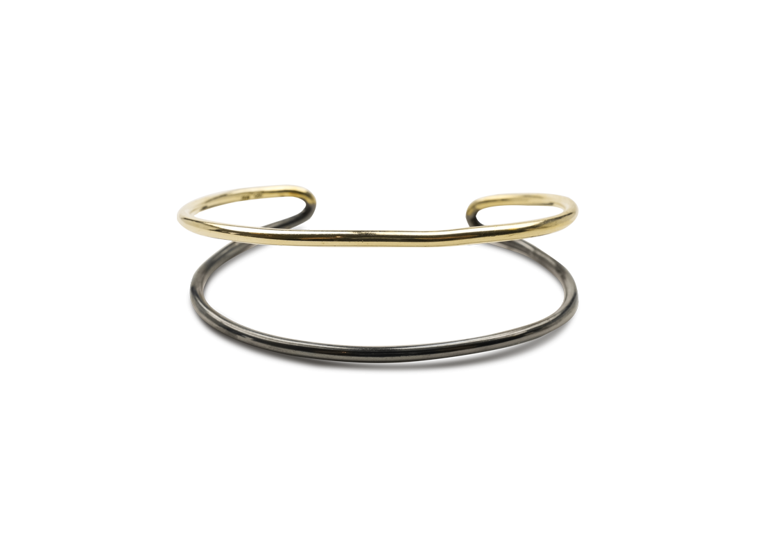 CONTRAST BRACELET GOLD BLACK slide