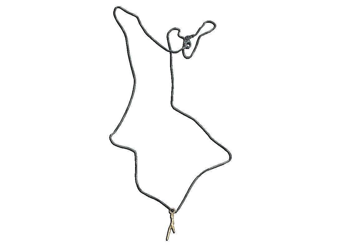 Coral Necklace Gold slide