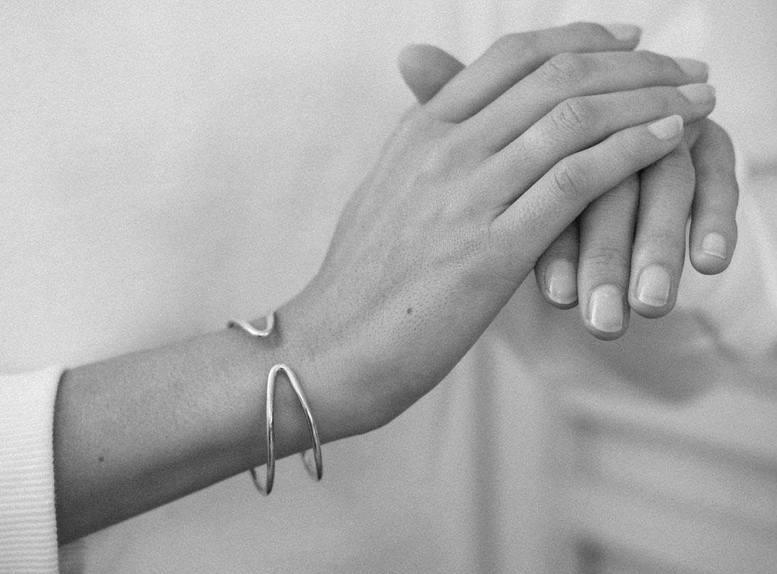 Contrast bracelet silver  slide