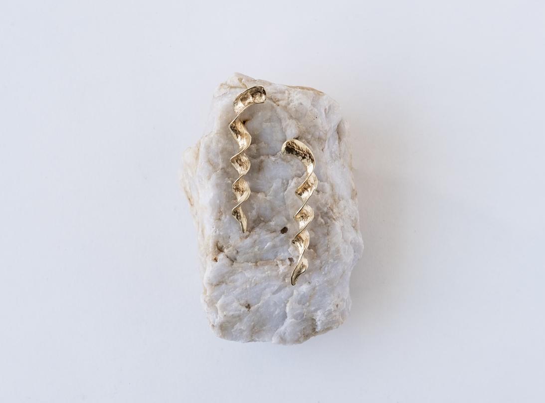 Spiral Earrings gold slide