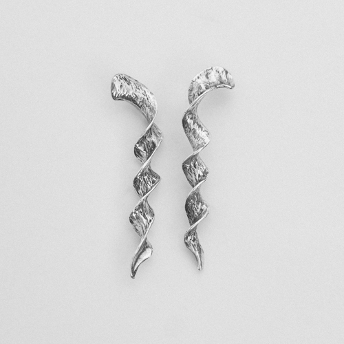 Spiral earrings silver thumbnail